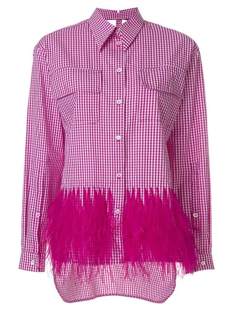 Nº21 embellished gingham shirt - Pink