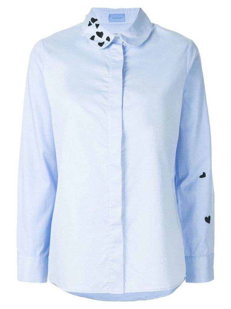 Macgraw heart embroidered shirt - Blue