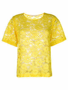 Miahatami floral lace top - Yellow