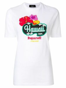 Dsquared2 Hawaii print T-shirt - White
