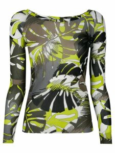 D.Exterior leaf print top - Multicolour