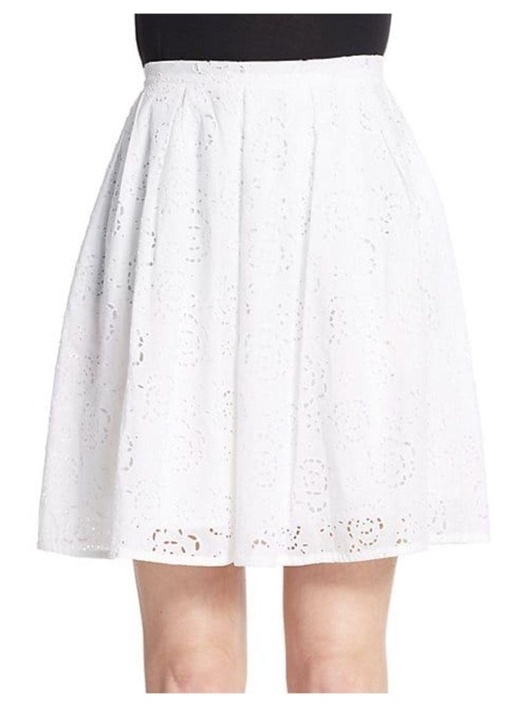 Floral Eyelet Skirt