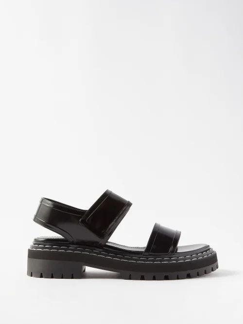 Mansur Gavriel - Light Pink Lined Large Leather Tote Bag - Womens - Light Tan