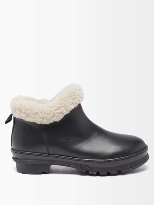 Mansur Gavriel - Red Lined Large Leather Tote Bag - Womens - Tan Multi