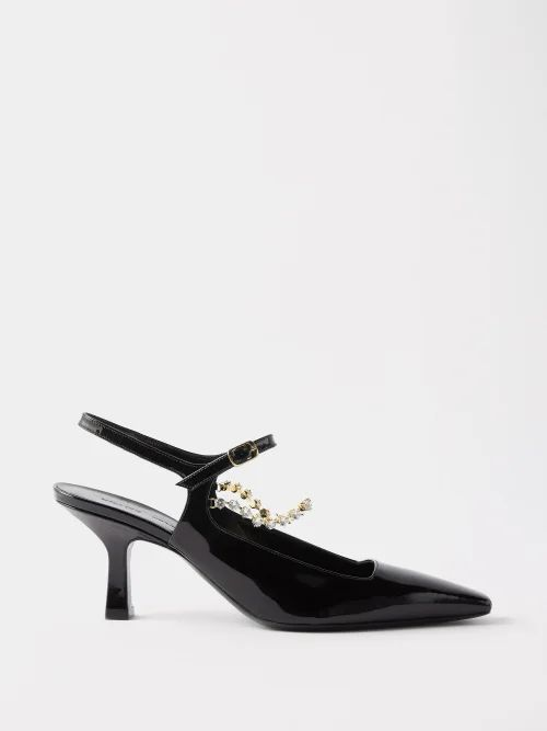 Gabriela Hearst - Serge Contrast Stitch Single Breasted Wool Blazer - Womens - Navy