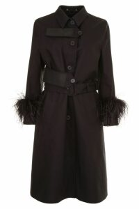 Prada Linea Rossa Trench With Feathers And Rubber Patch