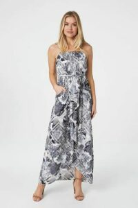 Ruffle Split Front Maxi Dress