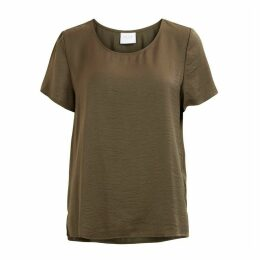 Short-Sleeved Round Neck Blouse