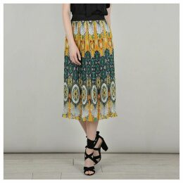 Graphic Print Skater Skirt