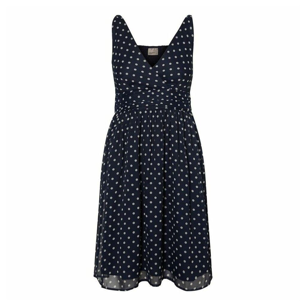 Short Polka Dot Print Skater Dress