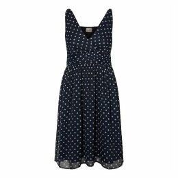 Short Polka Dot Print Skater Dress