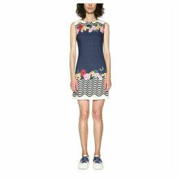Short Sleeveless Striped Shift Dress