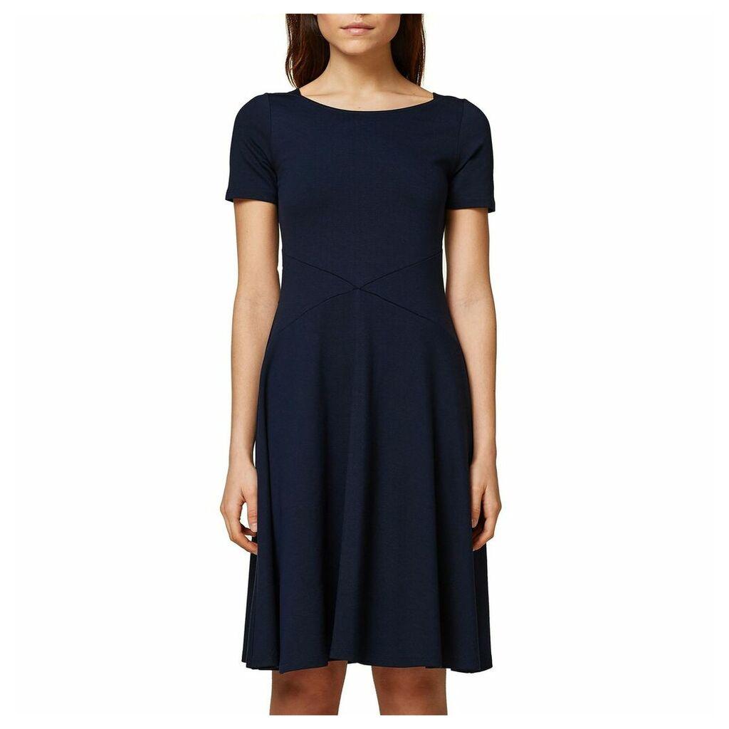 Plain Short Skater Dress with Short Sleeves