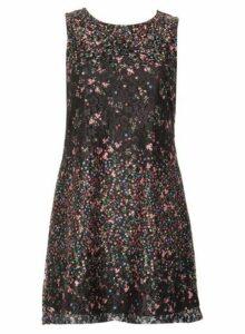 Womens *Izabel London Floral Sheer Overlay Dress- Multi Colour, Multi Colour