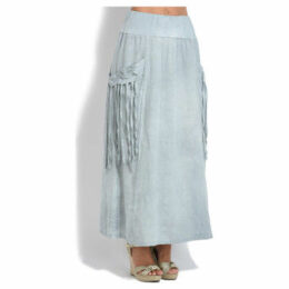 100 % Lin  Skirt  women's Skirt in Grey