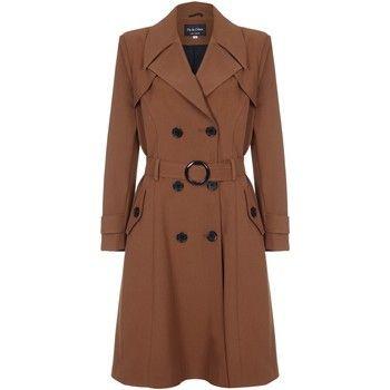 De La Creme  Spring Belted Trench Coat  women's Coat in Brown