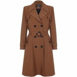 De La Creme  Spring Belted Trench Coat  women's Coat in Brown