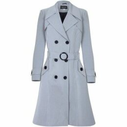 De La Creme  Spring Belted Trench Coat  women's Coat in Grey