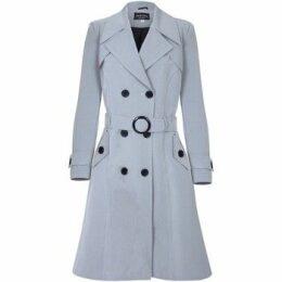 De La Creme  Spring Belted Trench Coat  women's Coat in Grey