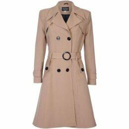 De La Creme  Spring Belted Trench Coat  women's Coat in Beige