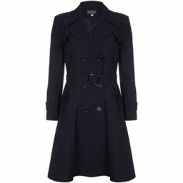 De La Creme  Spring Belted Trench Coat  women's Coat in Black