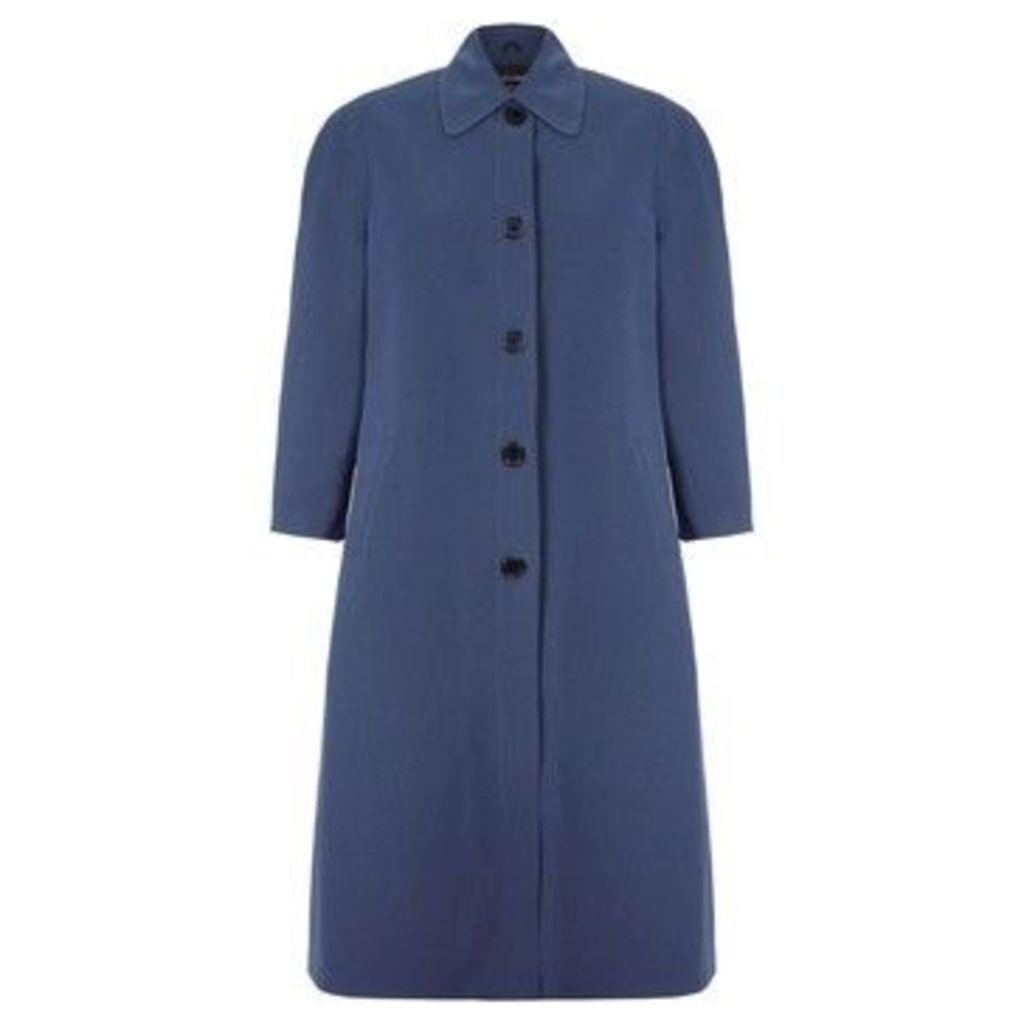 De La Creme  Spring Long Raincoat  women's Coat in Grey