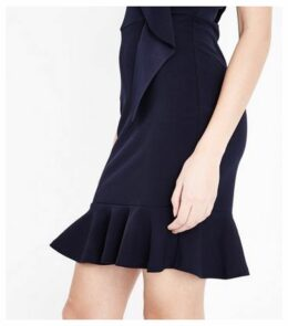 AX Paris Navy Frill Trim Mini Dress New Look