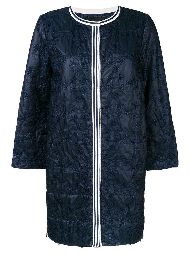 Ermanno Ermanno embroidered coat - Blue