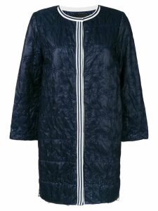 Ermanno Ermanno embroidered coat - Blue
