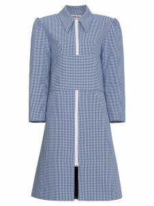 Shushu/Tong Gingham Belted Coat - Blue