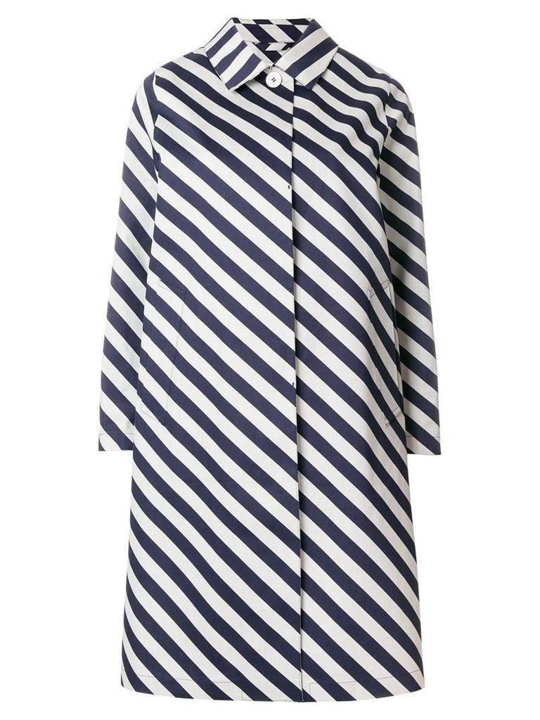 Mackintosh striped raincoat - Blue