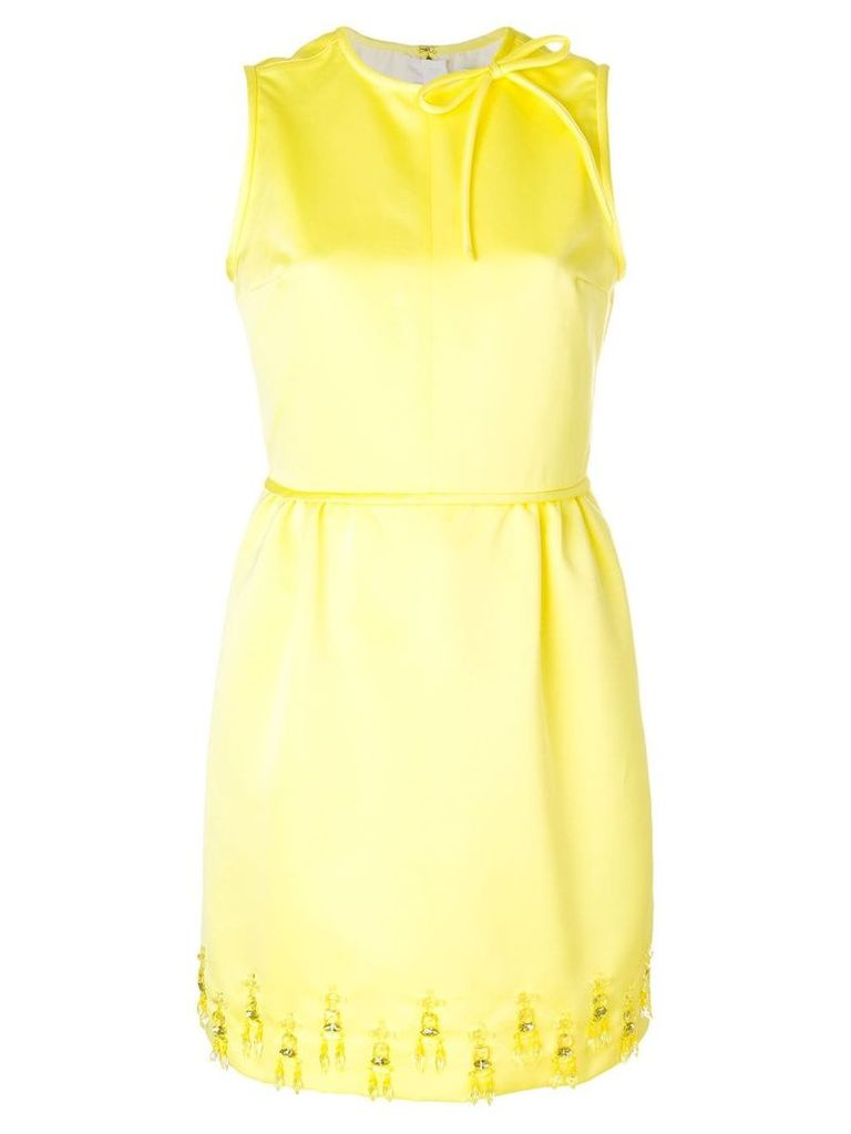 MSGM embellished mini dress - Yellow