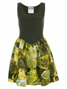 Moschino ribbed floral dress - Green