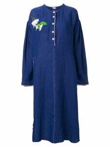 Natasha Zinko embroidered dress - Blue