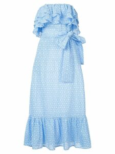 Lisa Marie Fernandez Sabine ruffled eyelet dress - Blue