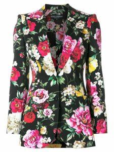 Dolce & Gabbana floral print blazer - Black