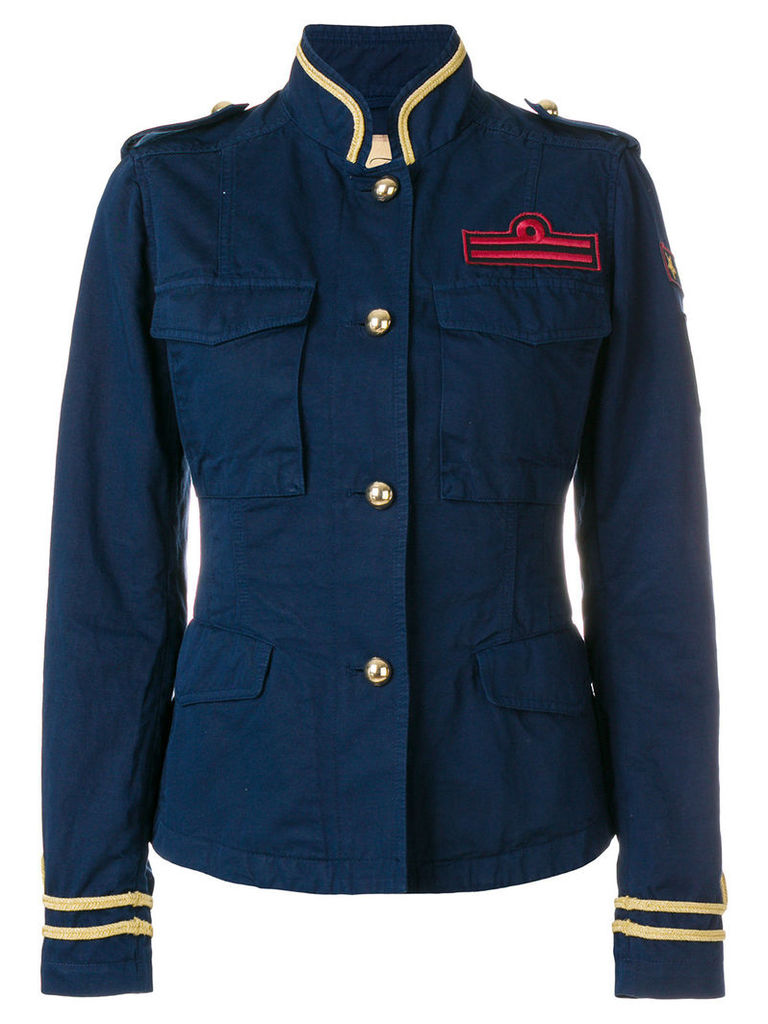 Fay military patch jacket - Blue