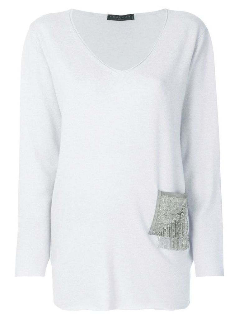 Fabiana Filippi embellished detail jumper - Grey
