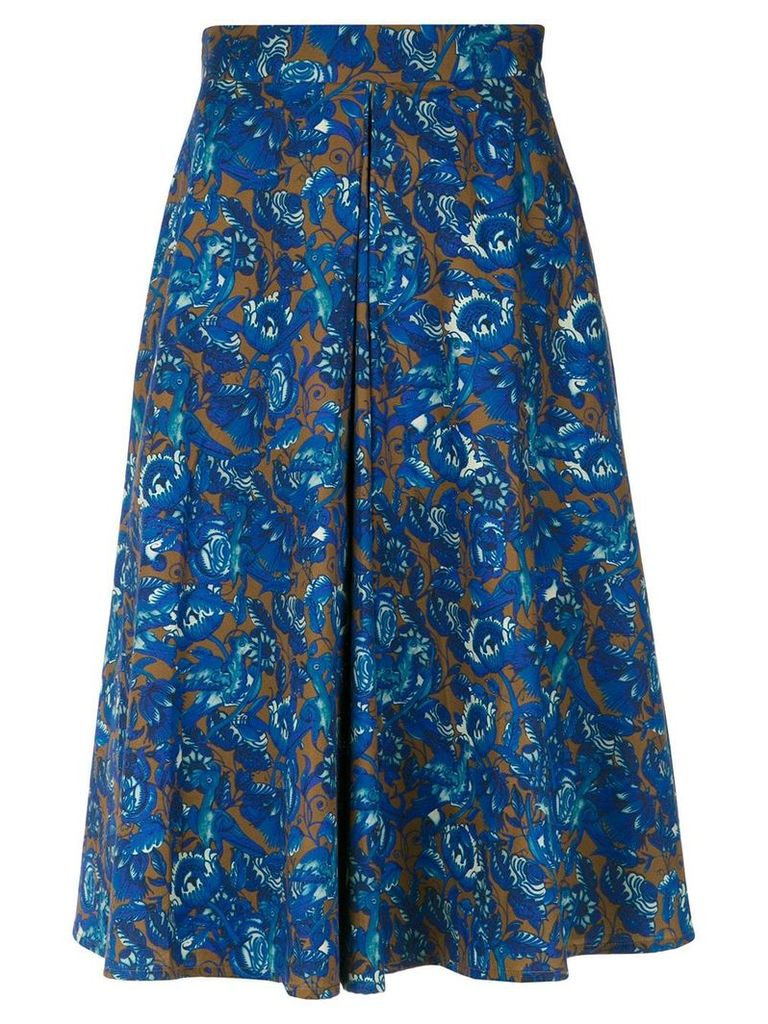 Andrea Marques front pleat skirt - Est Lisboa Ocre