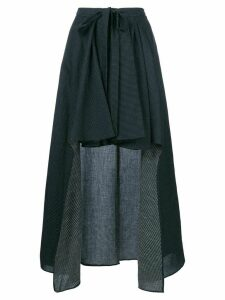 Chalayan draped asymmetric skirt - Blue