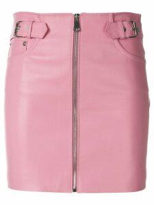 Manokhi front zip mini skirt - Pink