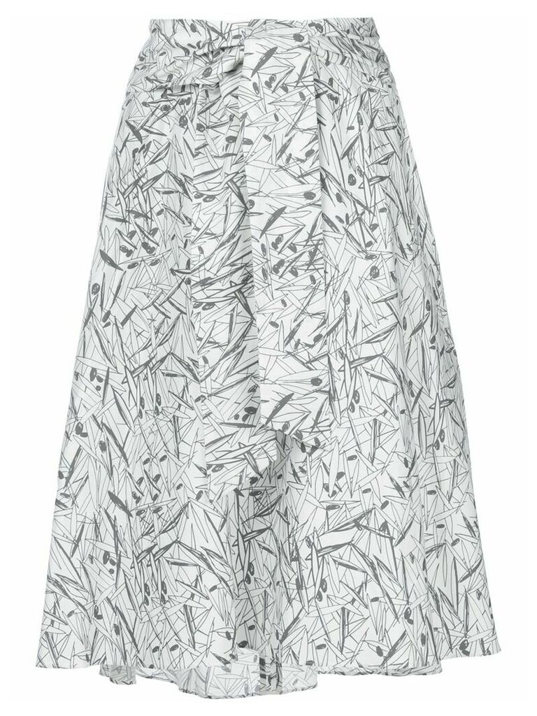 Chalayan flared print skirt - White