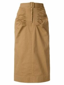 Nº21 high-waisted pencil skirt - Brown