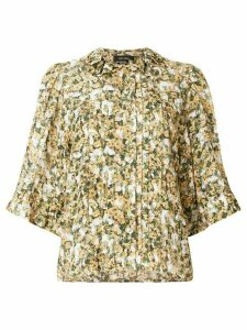 Isabel Marant micro floral print blouse - Yellow