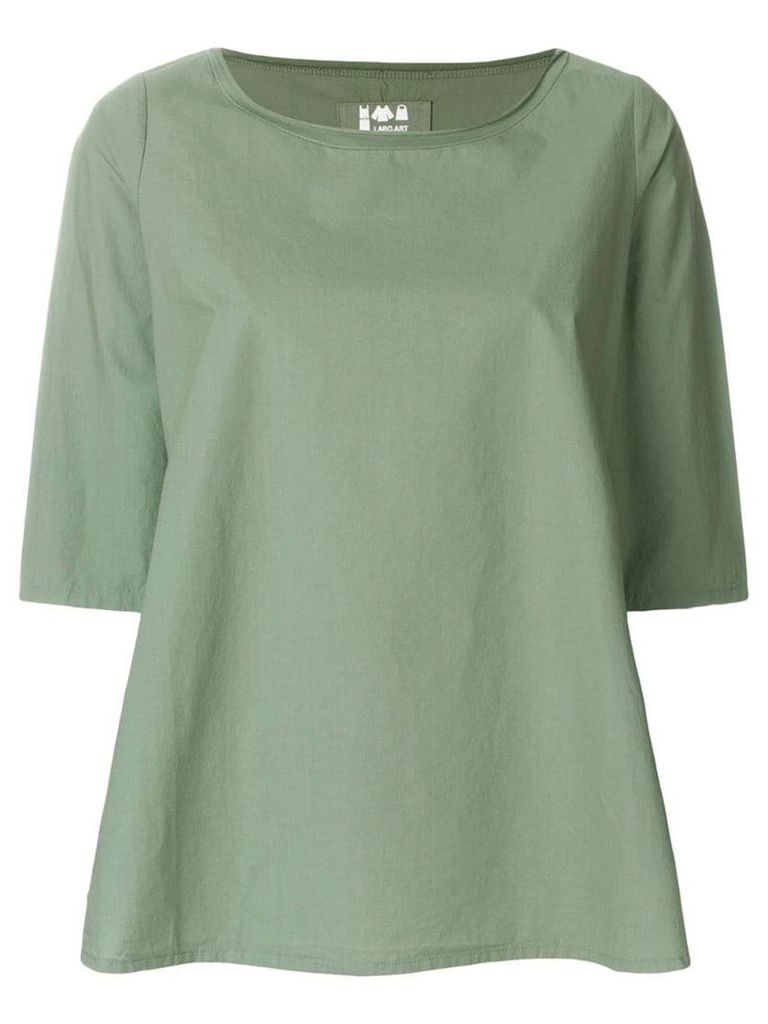 Labo Art cropped sleeves blouse - Green