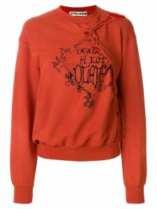 Ottolinger tied patch sweatshirt - Red