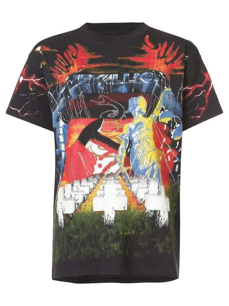 R13 Metallica print T-shirt - Black