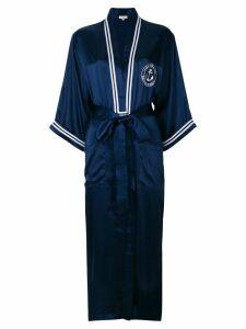 Natasha Zinko logo print kimono - Blue