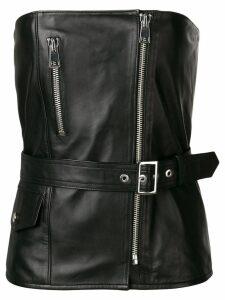 Manokhi biker strapless top - Black