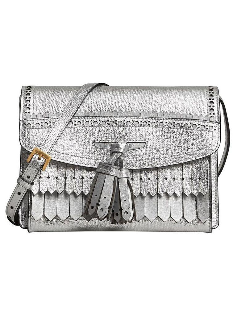 Burberry brogue detail crossbody bag - Metallic